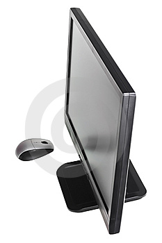Monitor & Mouse Royalty Free Stock Photo - Image: 8589245