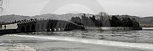 The 17-Arch Bridge In Summer Palace Royalty Free Stock Photo - Image: 8589395