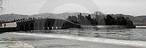 A Ponte 17-Arch No Palácio De Verão Foto de Stock Royalty Free - Imagem: 8589395