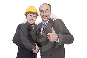 Two Successful Businessman Stock Photos - Image: 8589913