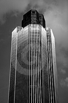 Abstract London Skyscraper In Black And White Stock Image - Image: 8590001