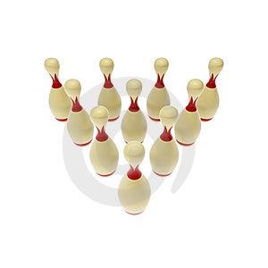 Bowling Pins Royalty Free Stock Photos - Image: 8590298