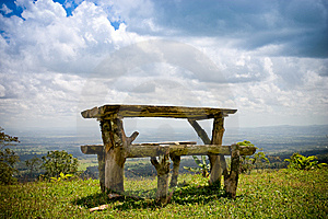 Wooden Bench And Table Stock Photos - Image: 8590343