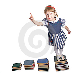Little Girl With Book Royalty Free Stock Photos - Image: 8590588