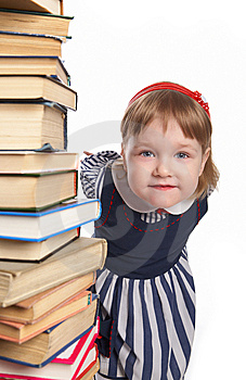 Little Girl With Book Stock Photography - Image: 8590602