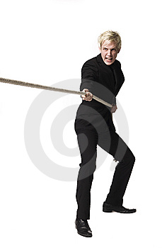 Boy Pulling A Rope Stock Image - Image: 8590611