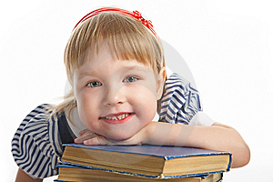 Little Girl With Book Royalty Free Stock Photo - Image: 8590615