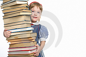 Little Girl With Book Stock Photo - Image: 8590620