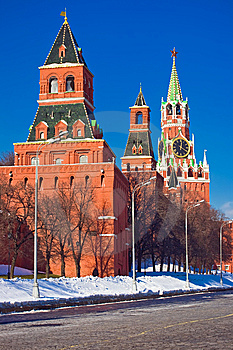 Red Square And Kremlin Royalty Free Stock Photography - Image: 8590667