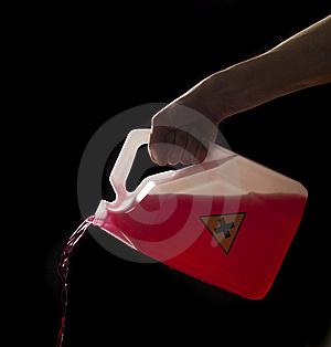 Can With Biohazard Content Royalty Free Stock Photography - Image: 8590737