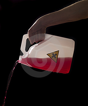 Can With Biohazard Content Royalty Free Stock Image - Image: 8590746