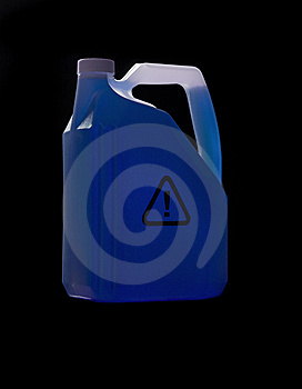Can With Biohazard Content Stock Image - Image: 8590751