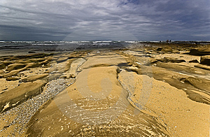 Rocks On Beach Royalty Free Stock Image - Image: 8591026