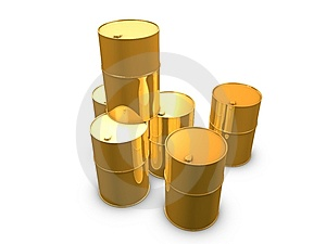 Golden Oil Barrels Stock Images - Image: 8591094