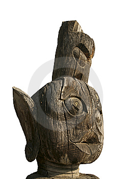 Asian Wooden Totem Stock Images - Image: 8591394