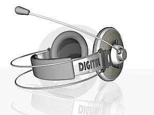 Headphone Stock Photo - Image: 8591510