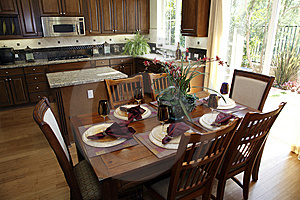 Dining Table And Kitchen. Stock Image - Image: 8592181