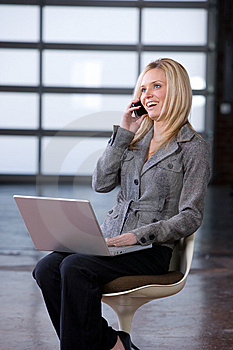 Business Woman On A Cell Phone Stock Images - Image: 8592254
