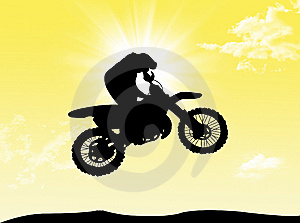 Biker In The Sun Stock Image - Image: 8593351