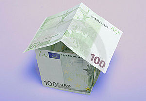 A House Made From Euro Bills Royalty Free Stock Images - Image: 8593439