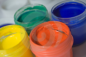 Gouache Paints, Close-up Royalty Free Stock Images - Image: 8594469