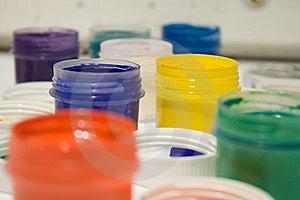 Peintures Multicolores De Gouache Image libre de droits - Image: 8594486