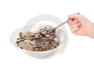 Monetary Meal 2 Stock Photo - Image: 8594500