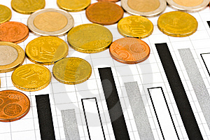 Coins And Diagram Royalty Free Stock Photo - Image: 8595175