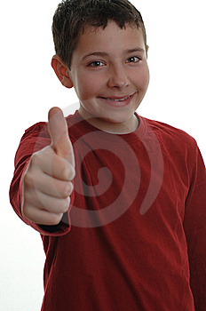 Young Boy With Thumb Up 1 Royalty Free Stock Photography - Image: 8595217