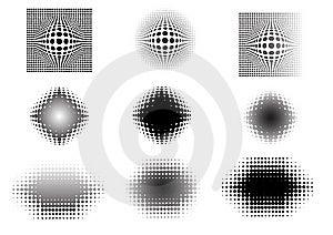 9 Circular Fades Stock Image - Image: 8595241