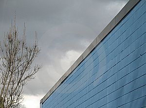 Blue Building Royalty Free Stock Photography - Image: 8595307