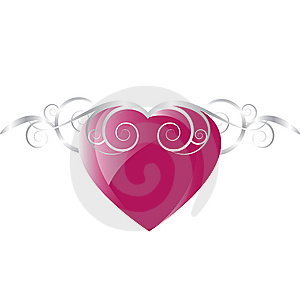 Ornate Heart Background Royalty Free Stock Photography - Image: 8595787