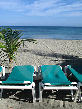 Chairs On The Beach Royalty Free Stock Photos - Image: 8596038