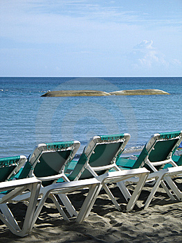 Chairson The Beach Royalty Free Stock Photo - Image: 8596065