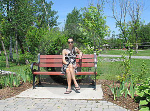 Woman On A Bench Royalty Free Stock Photos - Image: 8597068