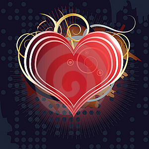 Beauty Heart Background Stock Image - Image: 8597171