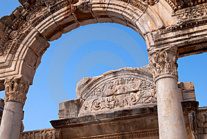Temple Of Hadrian, Ephesus, Turkey Stock Photo - Image: 8597580