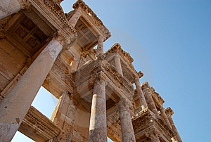 Library Of Celsus, Ephesus, Turkey Royalty Free Stock Photography - Image: 8597607