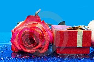 Gift Box And Rose Royalty Free Stock Image - Image: 8597876