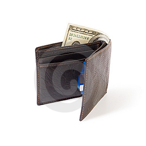 Purse With Dollars Stock Image - Image: 8598051