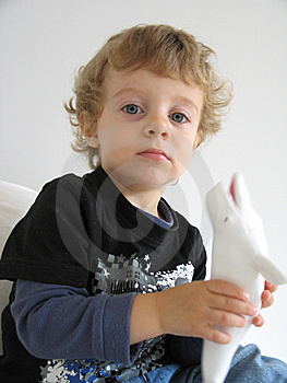 Boy With A Whale Stock Photo - Image: 8598140