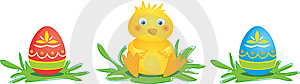 Chick With Eggs Stock Photos - Image: 8598303