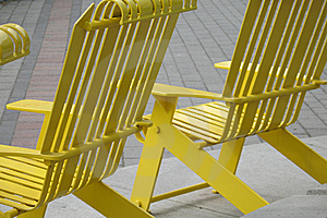 Yellow Chairs Stock Images - Image: 8598364