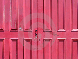 Red Door Stock Image - Image: 8598891