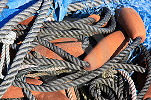 Fishing Net Stock Photography - Image: 8599112