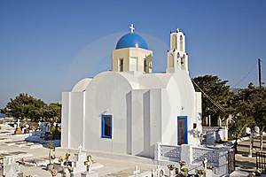 Pretty Greek Church, Santorini, Greece Royalty Free Stock Images - Image: 8599179