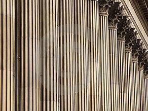 Stone Columns, St George's Hall, Liverpool UK Royalty Free Stock Image - Image: 8599316