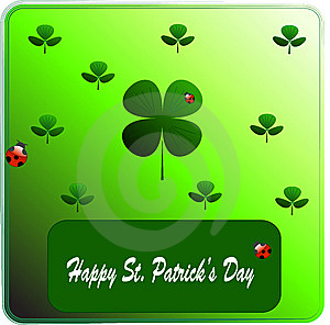 Clover On St. Patrick's Day. Vectors Illustration Royalty Free Stock Photo - Image: 8599345
