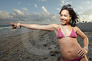 Woman On The Beach Royalty Free Stock Photo - Image: 8599475