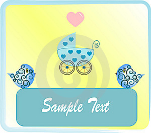 Pram Blue For Baby. Stock Photos - Image: 8599643